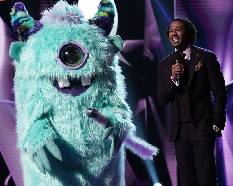 The Monster on stage with Nick Cannon