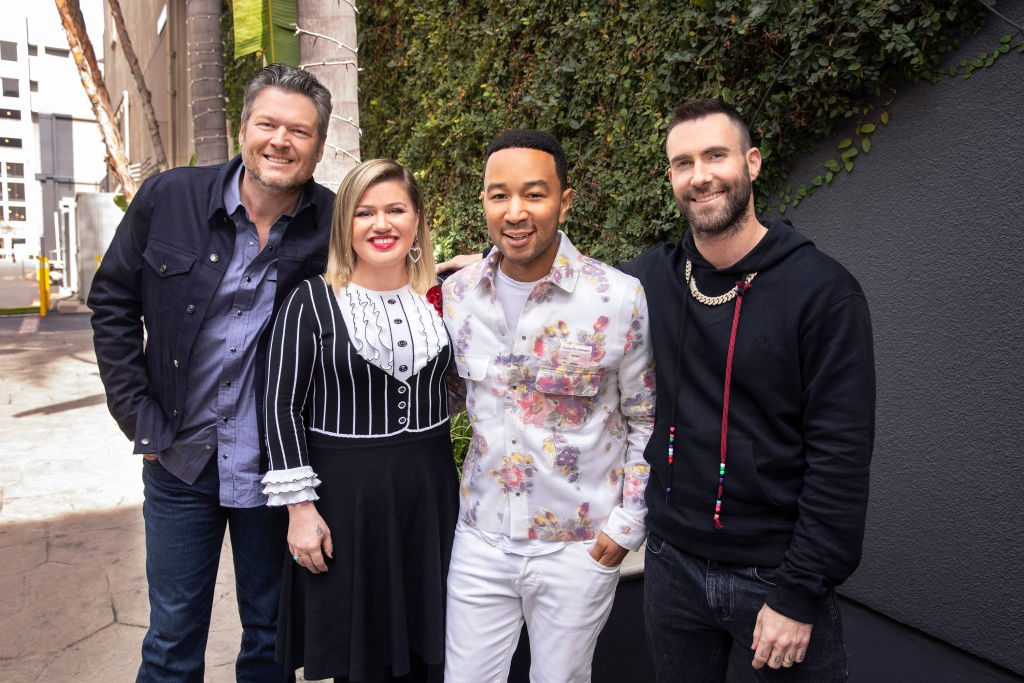 The Voice cast Blake Shelton, Kelly Clarkson, John Legend, Adam Levine