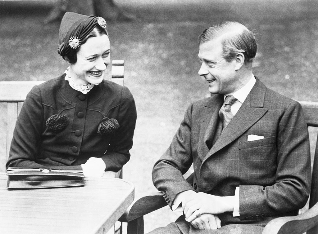 Wallis Simpson and the Duke of Windsor in France after their wedding.