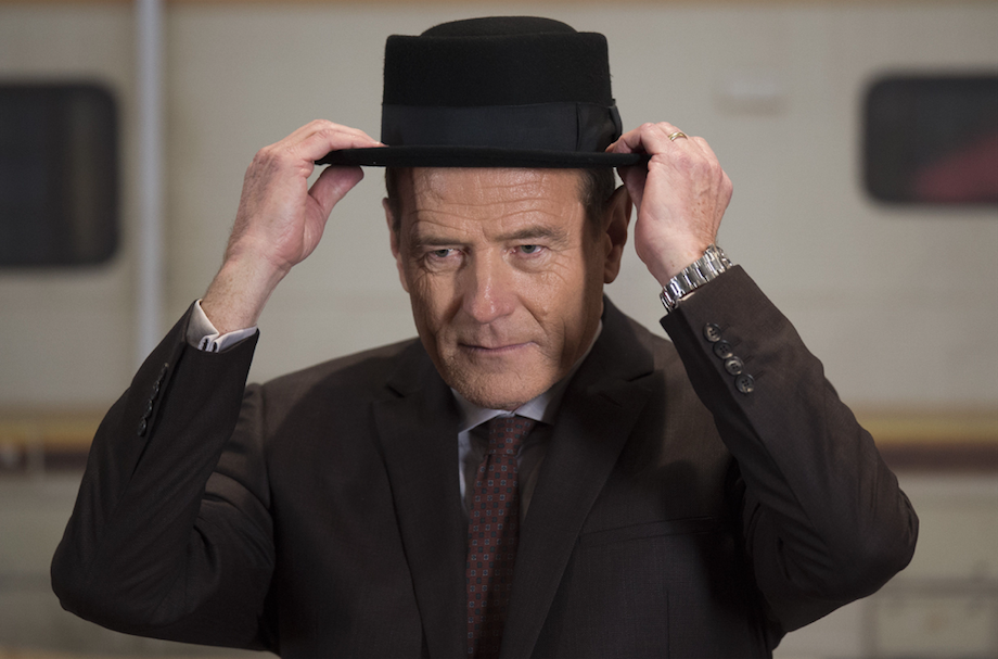 Walter White from Breaking Bad putting on his hat