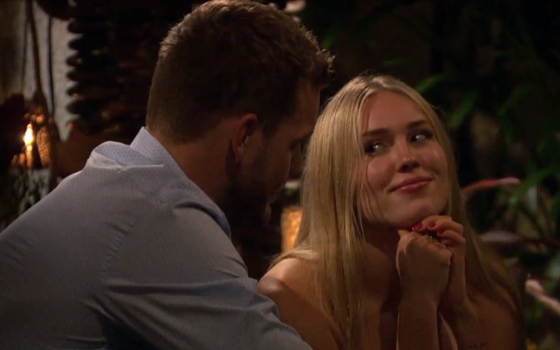 Cassie Randolph and Colton Underwood on The Bachelor
