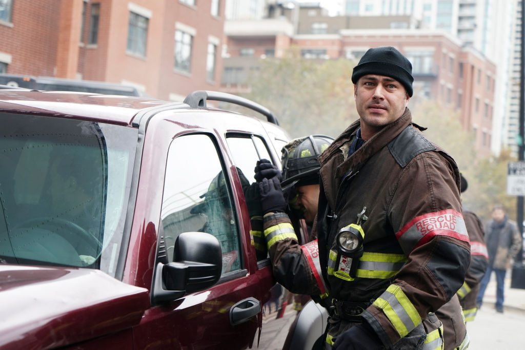 Taylor Kinney as Kelly Severide in Chicago Fire.