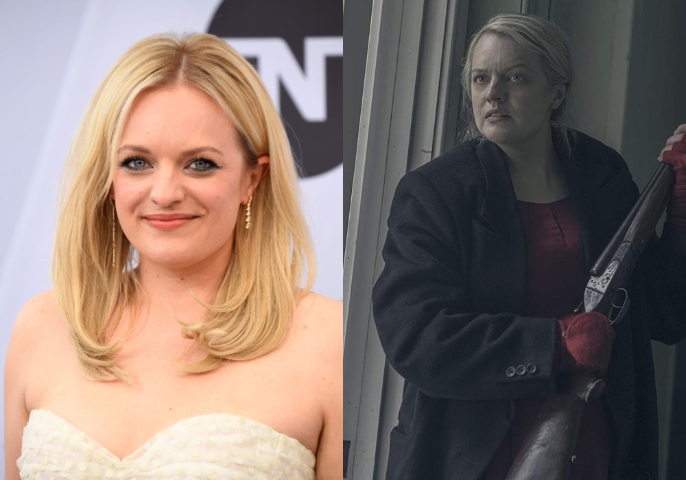 Elisabeth Moss as June in The Handmaid's Tale