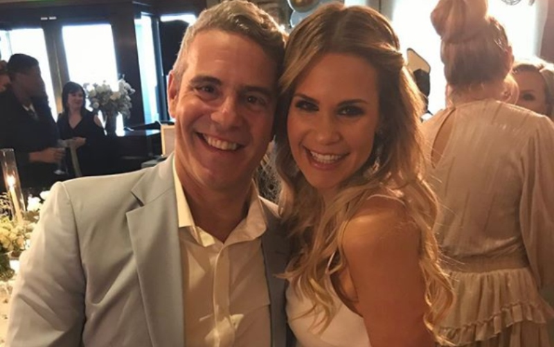 Jackie Goldschneider and Andy Cohen