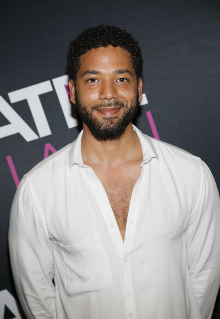 Jussie Smollett attends Tyler Perry Living the Dream event in 2019.
