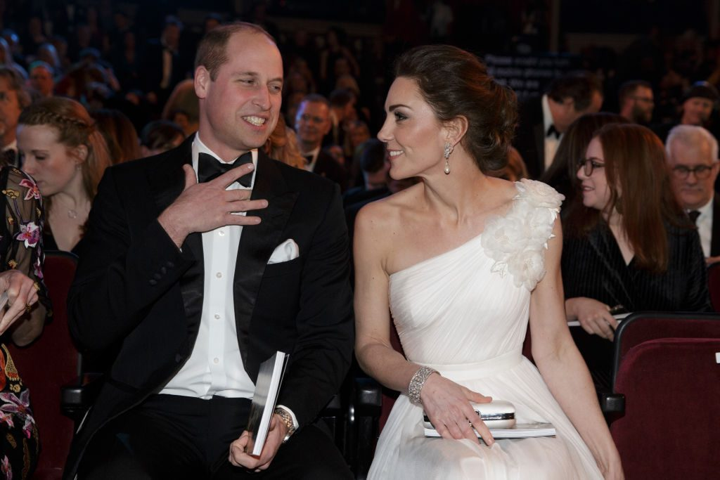 Prince William and Kate Middleton at BAFTA awards.