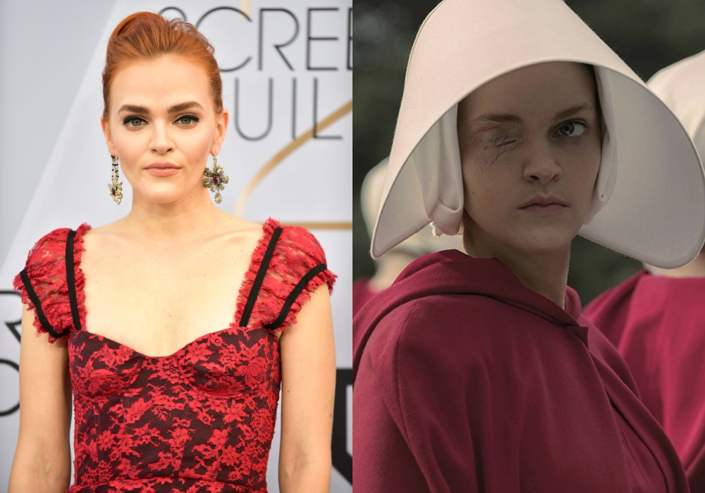 Madeline Brewer as Janine in The Handmaid's Tale