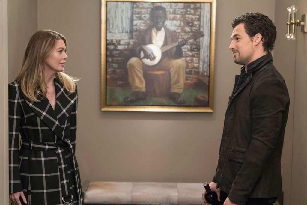 Meredith Grey and Andrew DeLuca on 'Grey's Anatomy'