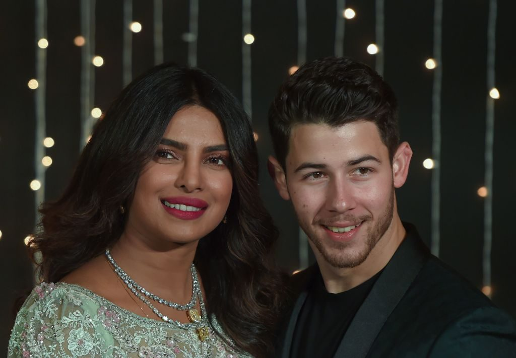Priyanka Chopra and Nick Jonas at the premiere of Isn't It Romantic