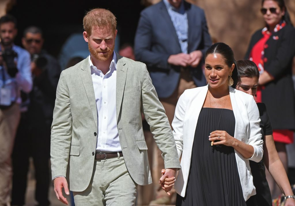 Prince Harry and Meghan Markle in Morocco, pregnant with Baby Sussex.