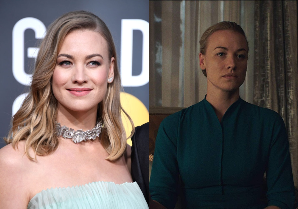 Yvonne Strahovski as Serena Joy Waterford on The Handmaid's Tale