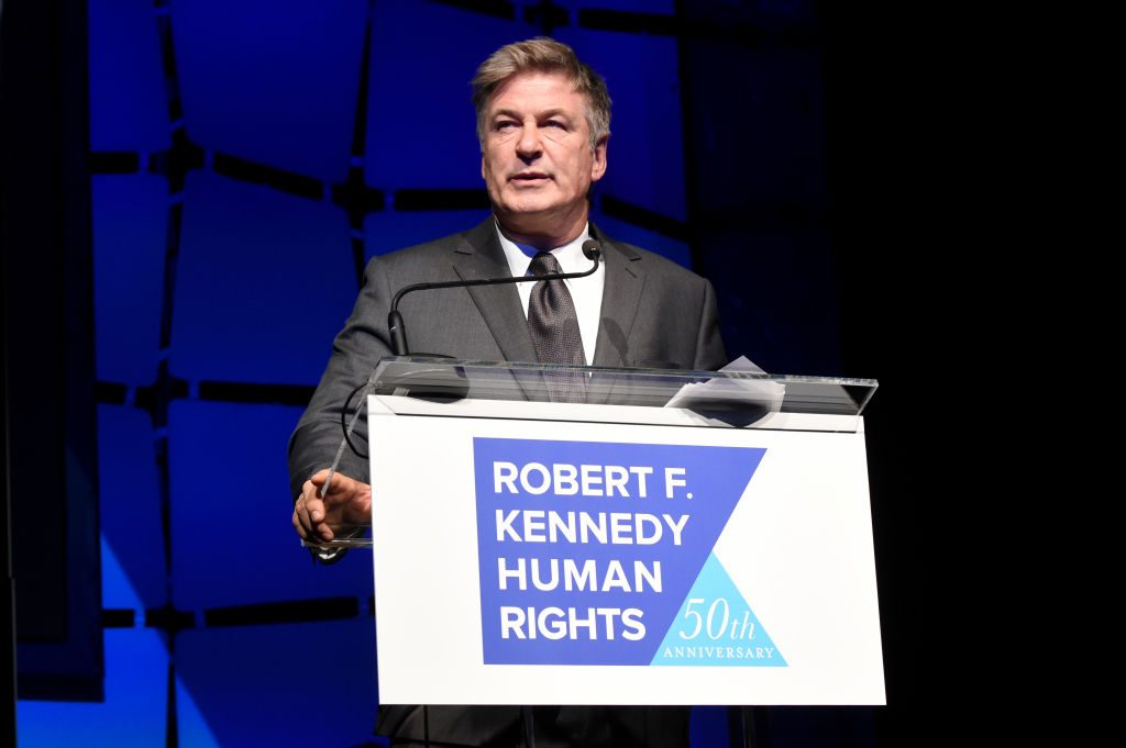 Actor Alec Baldwin speaks onstage during the 2019 Robert F. Kennedy Human Rights Ripple Of Hope Awards.