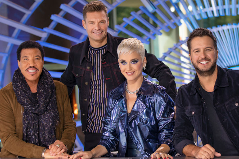 American Idol judges and Seacrest together