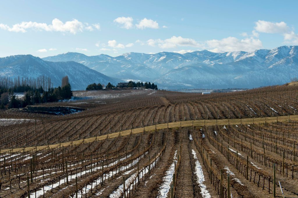 Benson winery, a Mediterranean-inspired winery overlooking Lake Chelan in Eastern Washington.