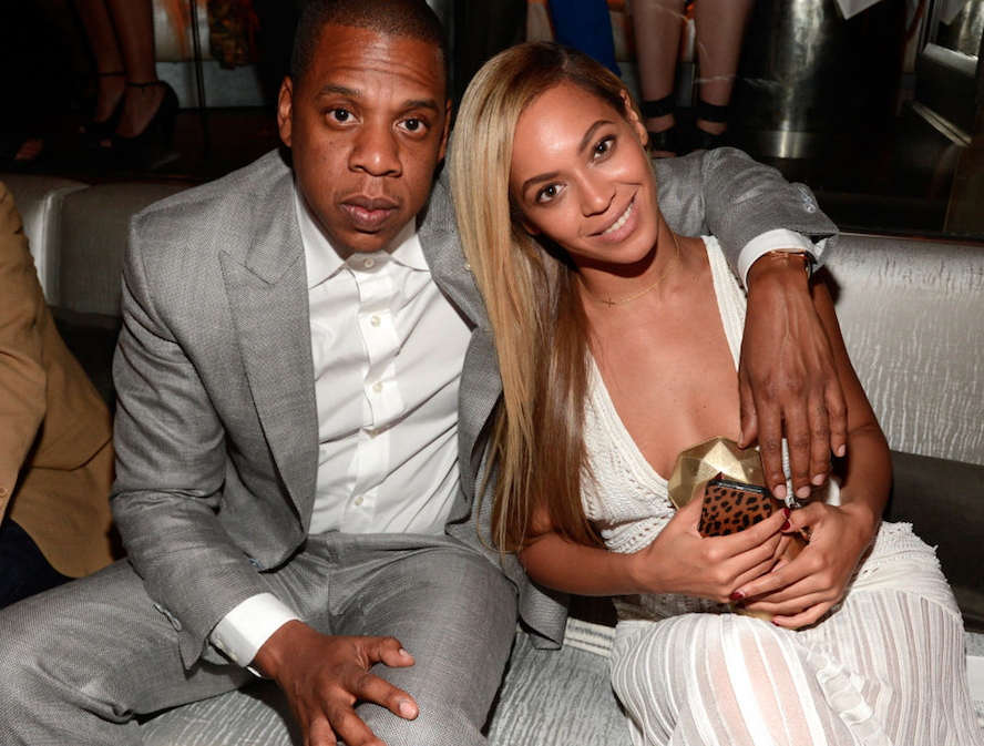 Beyonce and Jay-Z hanging out