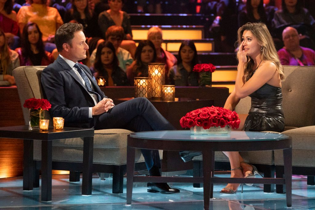 Caelynn and Chris Harrison from The Bachelor