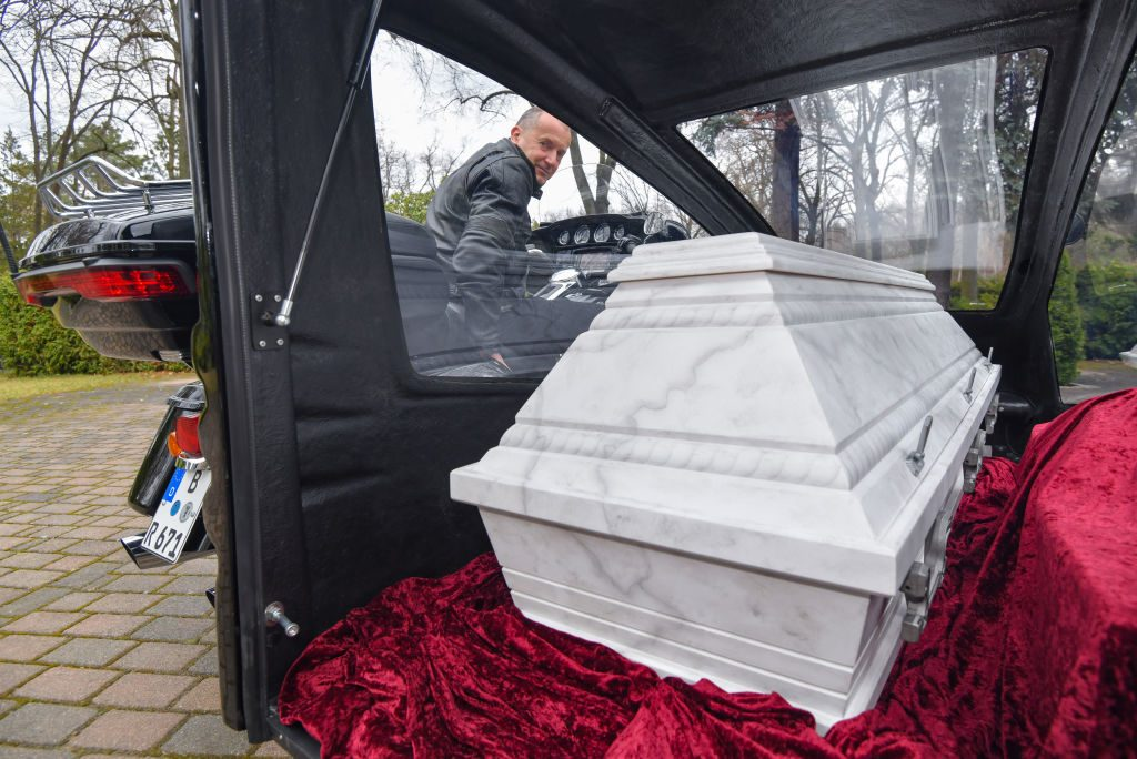 Casket on the way to a burial