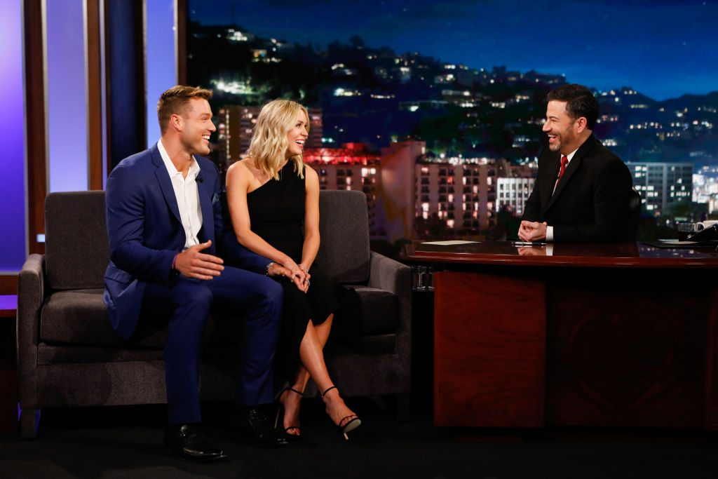 Colton Underwood and Cassie Randolph on Jimmy Kimmel Live!