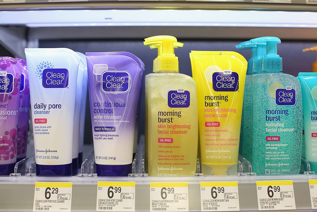 Cleansers offered at a Walgreens store