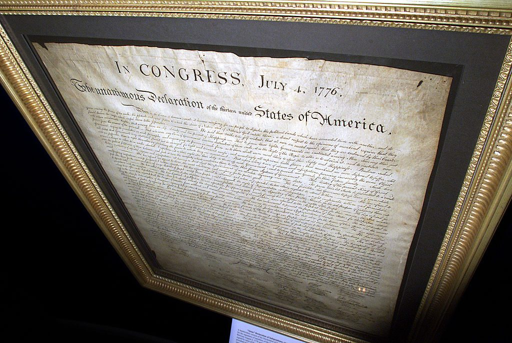 Engraving of the Declaration of Independence