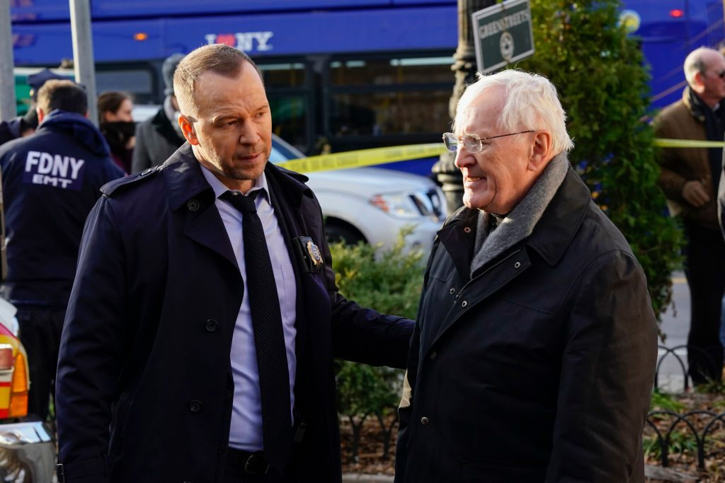 Donnie Wahlberg and Len Cariou on Blue Bloods