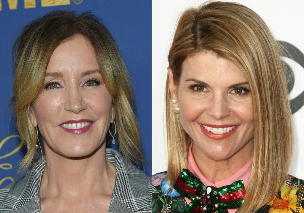 Felicity Huffman and Lori Loughlin | Lisa O'Connor, Tommaso Boddi/AFP/Getty Images