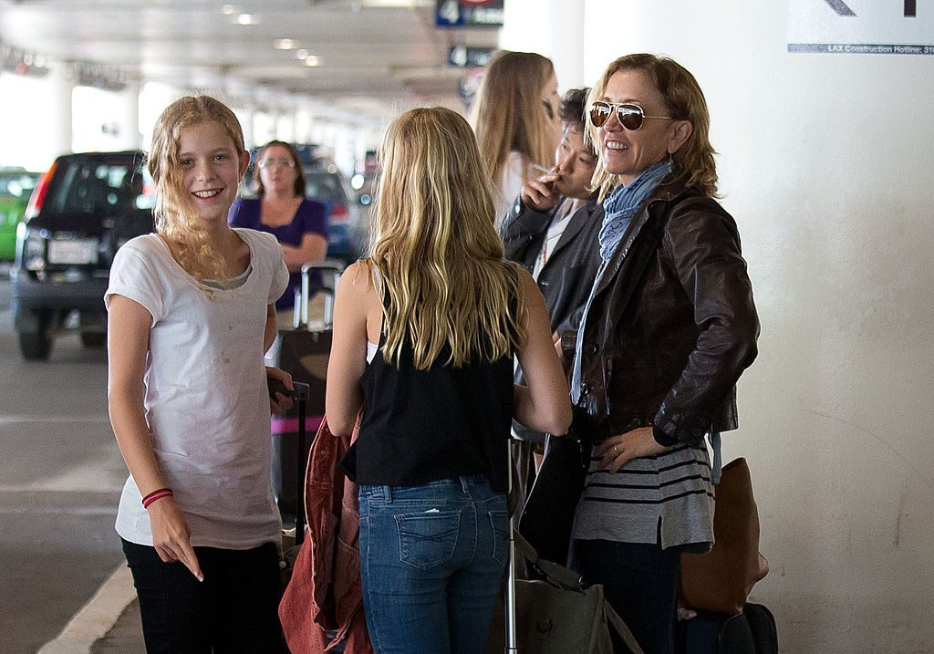 Felicity Huffman and her daughters, Georgia Grace Macy and Sofia Grace Macy