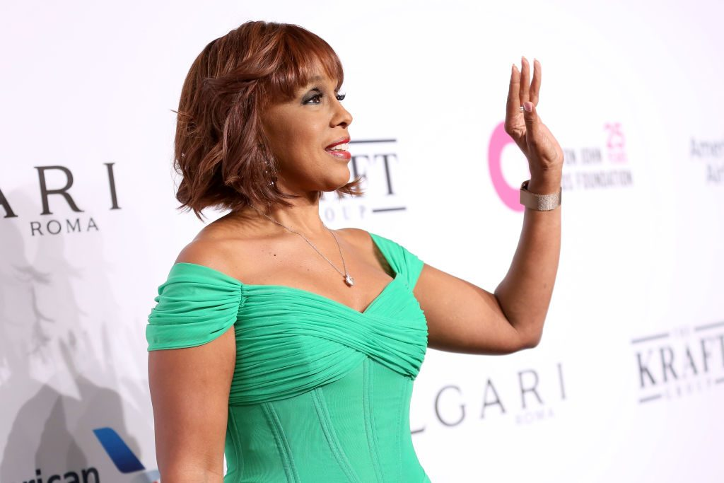 Gayle King attends the Elton John AIDS Foundation's 17th Annual An Enduring Vision Benefit  |  Monica Schipper/WireImage