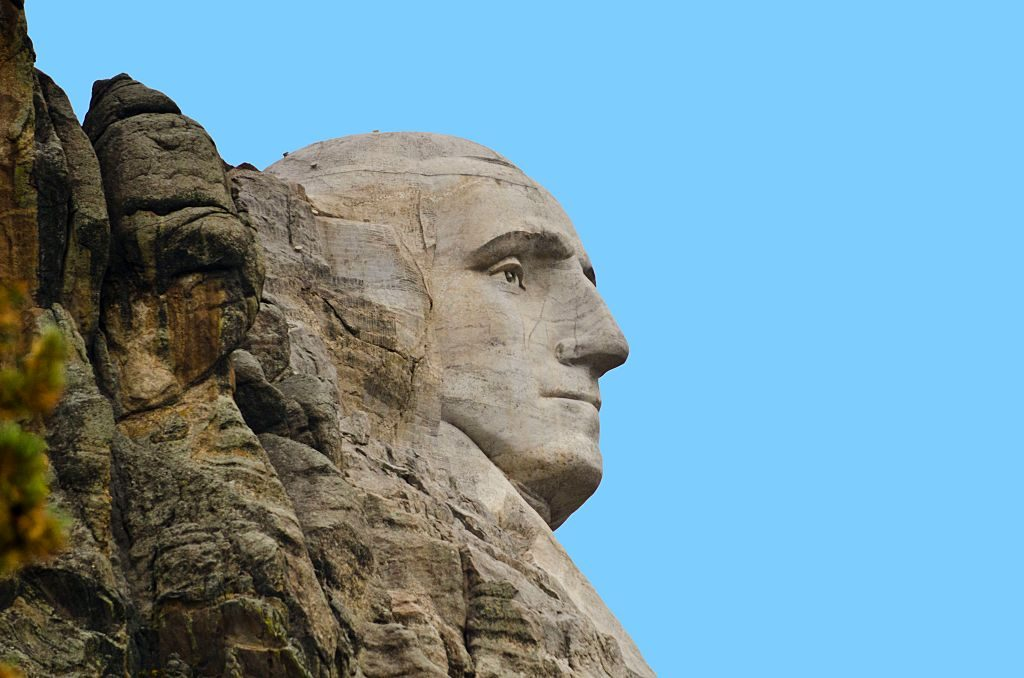 The profile of George Washington