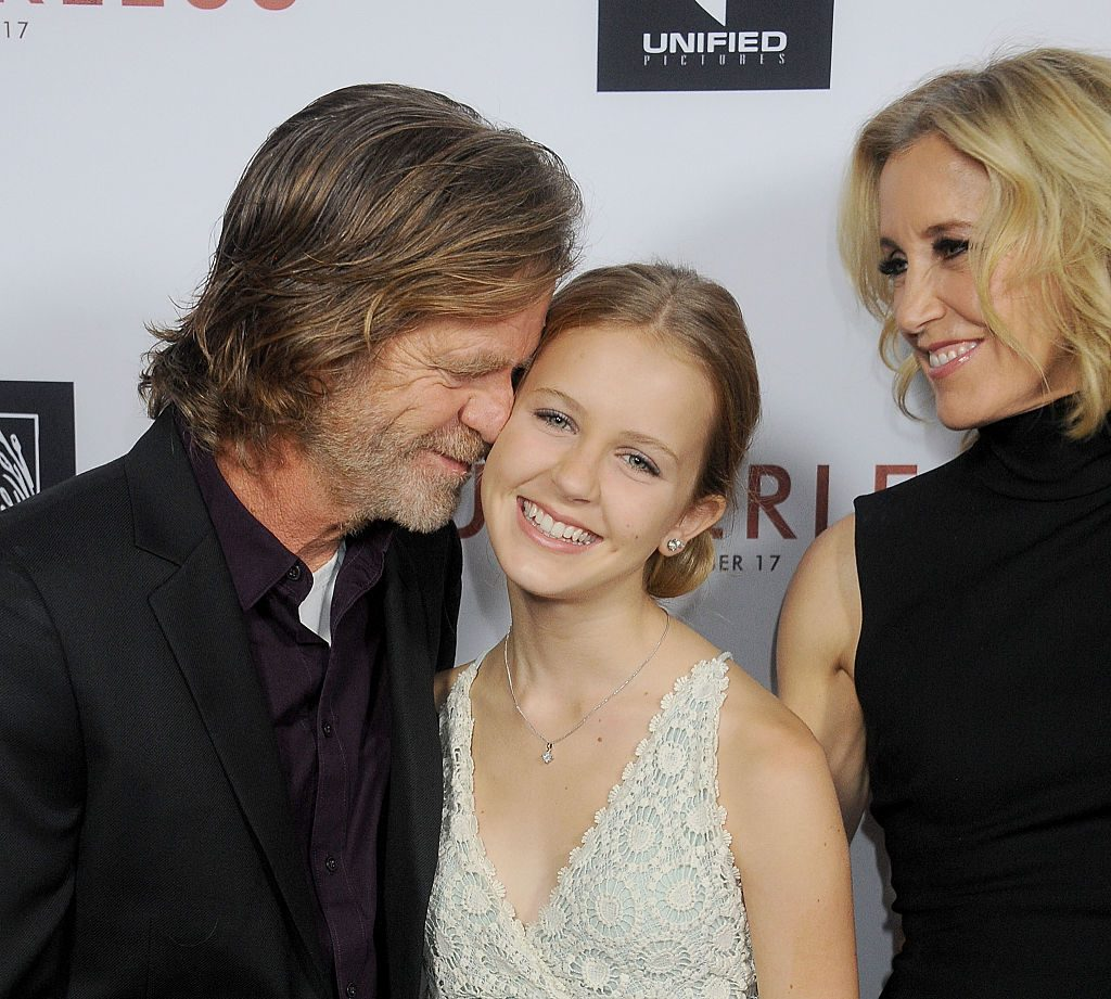 Felicity Huffman and William H. Macy and daughter Georgia Grace Macy