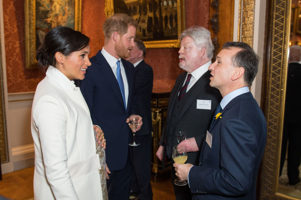 Prince Harry meets Simon Weston