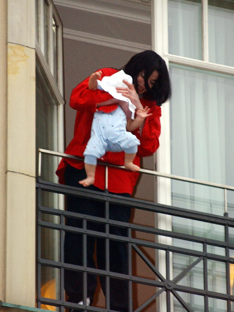 Michael Jackson with baby