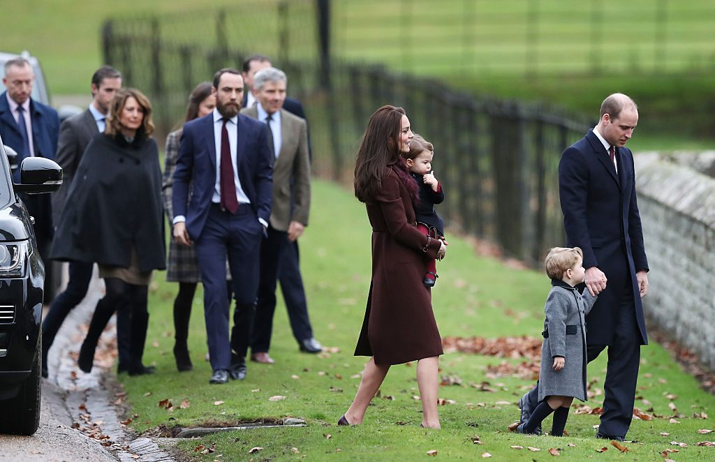 The Duke and Duchess of Cambridge and the Middleton family