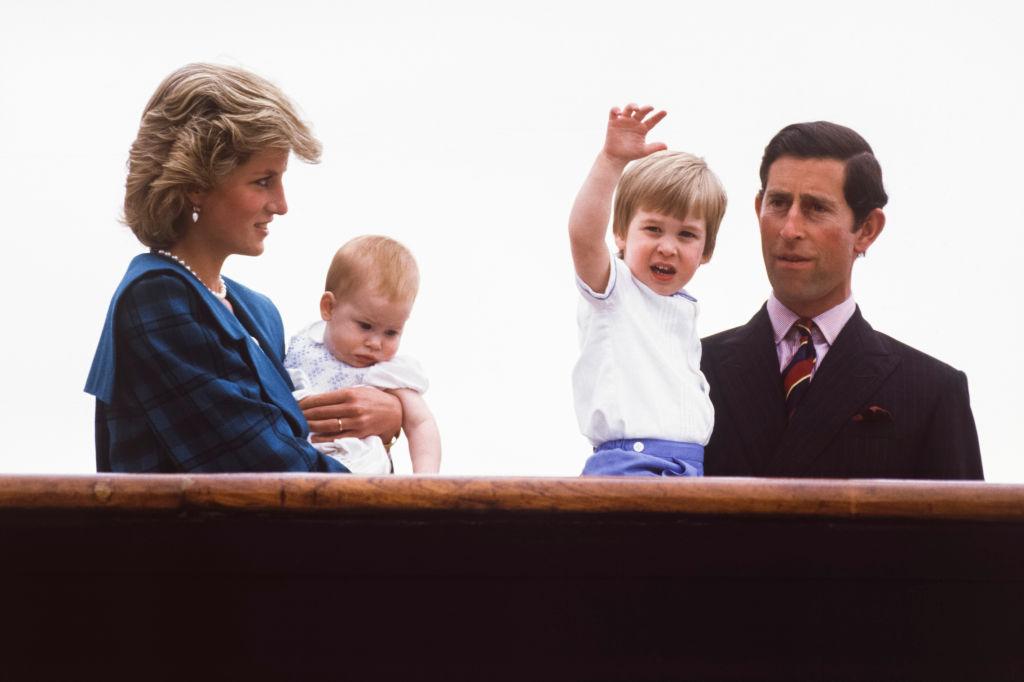 Princess Diana and family