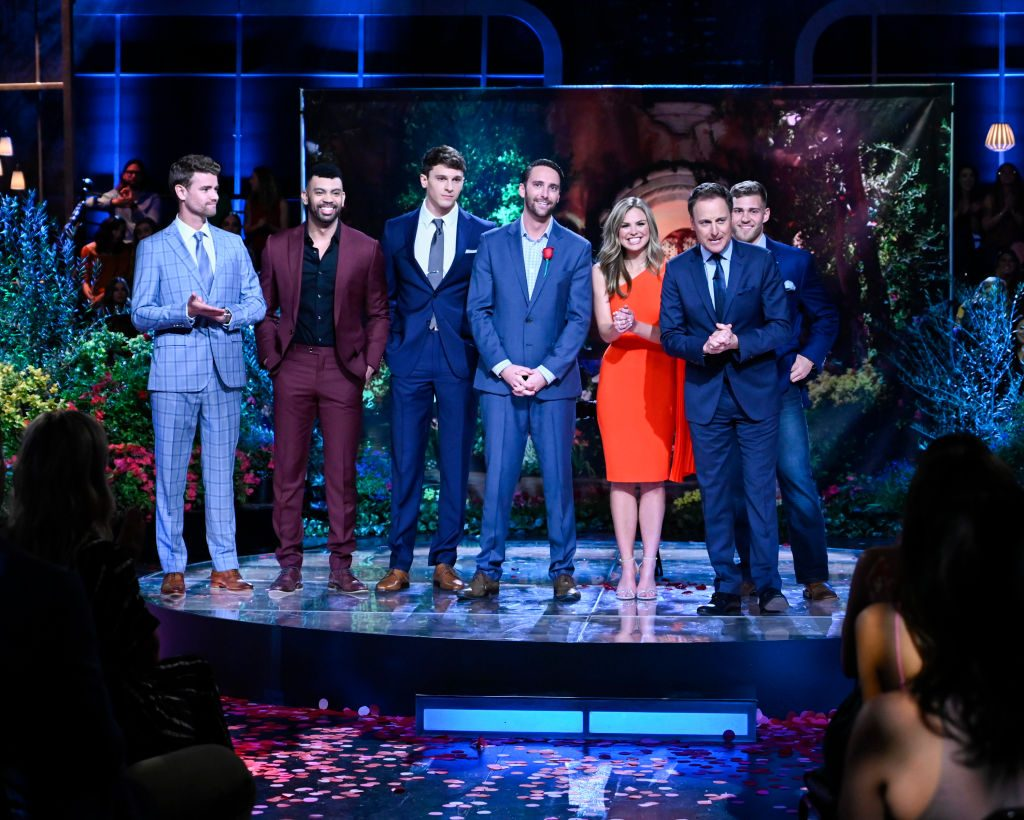 "Hannah Brown and the first five contestants of ""The Bachelorette"""