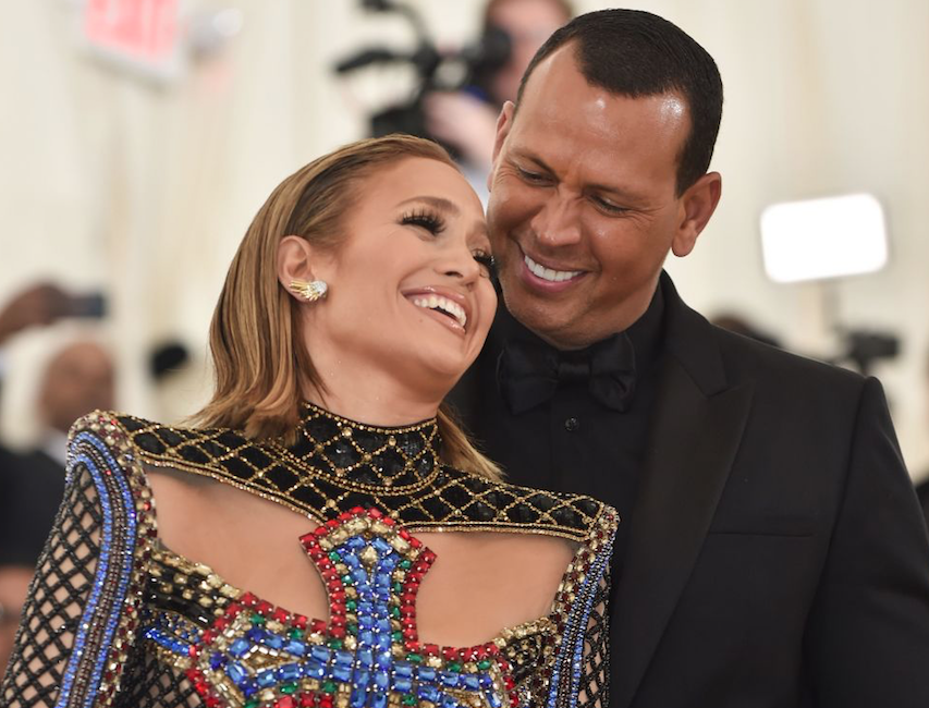 Jennifer Lopez and Alex Rodriguez laughing together