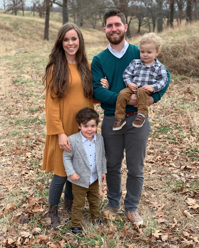 Jessa Duggar, Ben Seewald, and their two sons, Spurgeon and Henry.