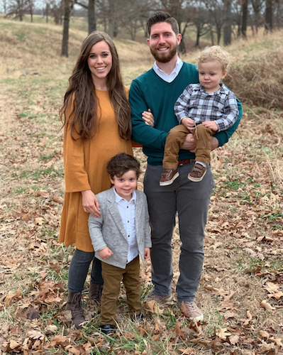 Jessa Duggar, Ben Seewald, and their two sons.