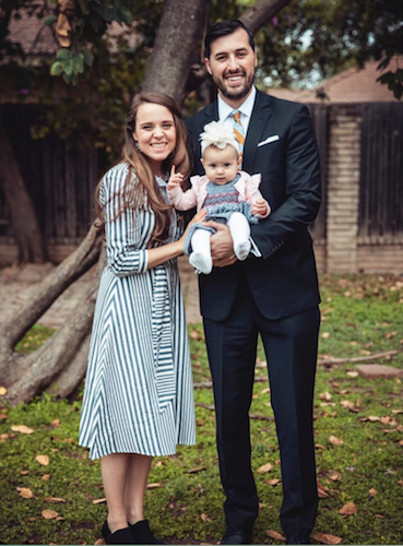 Jinger Duggar and Jeremy Vuolo with their daughter