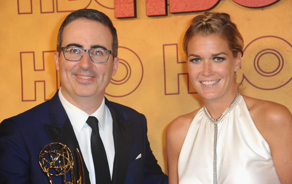 John Oliver and his wife, Kate Norley