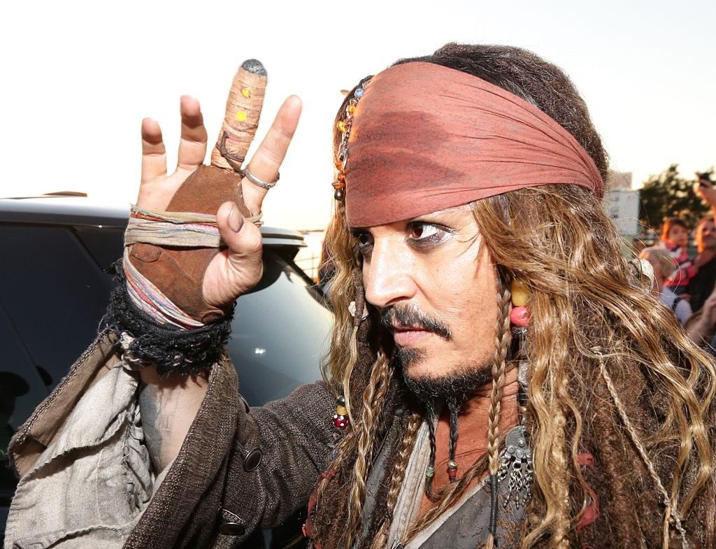 Johnny Depp as Jack Sparrow | Peter Wallis/Newspix/Getty Images