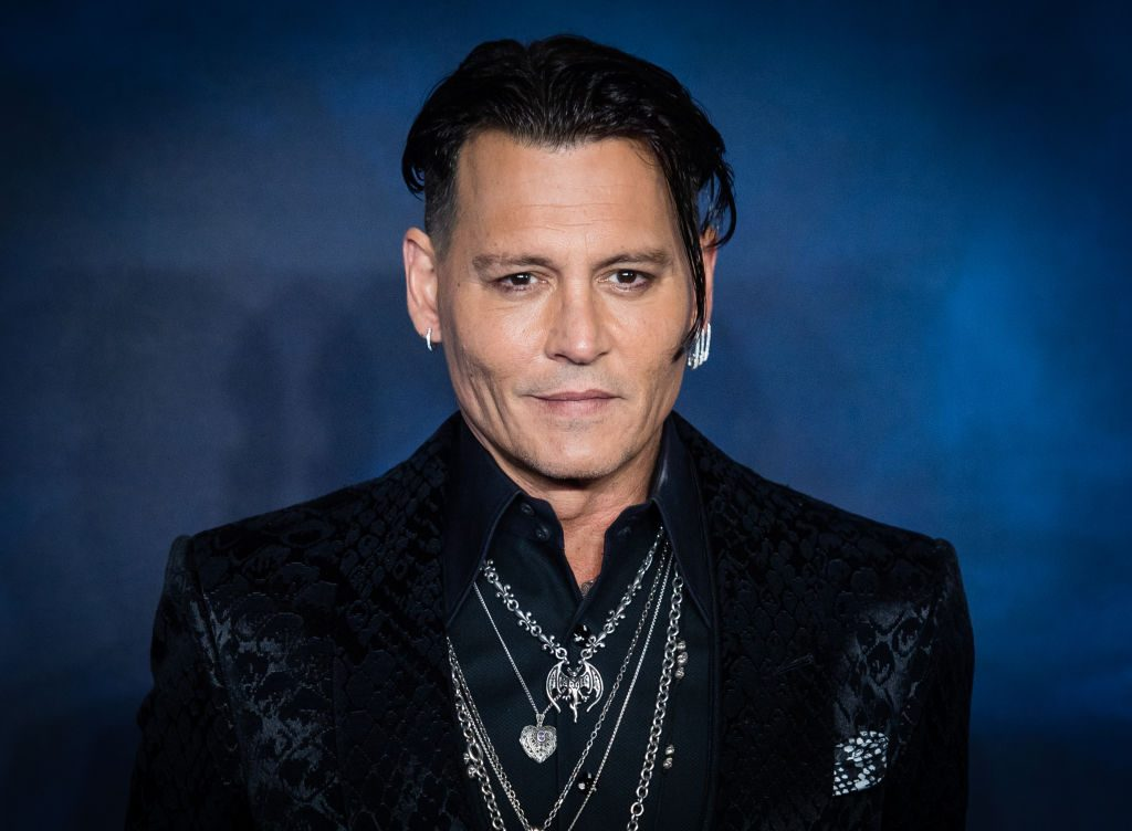 """Johnny Depp attends the UK Premiere of """"Fantastic Beasts: The Crimes Of Grindelwald"""" at Cineworld Leicester Square."""
