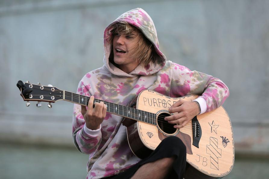 Justin playing guitar