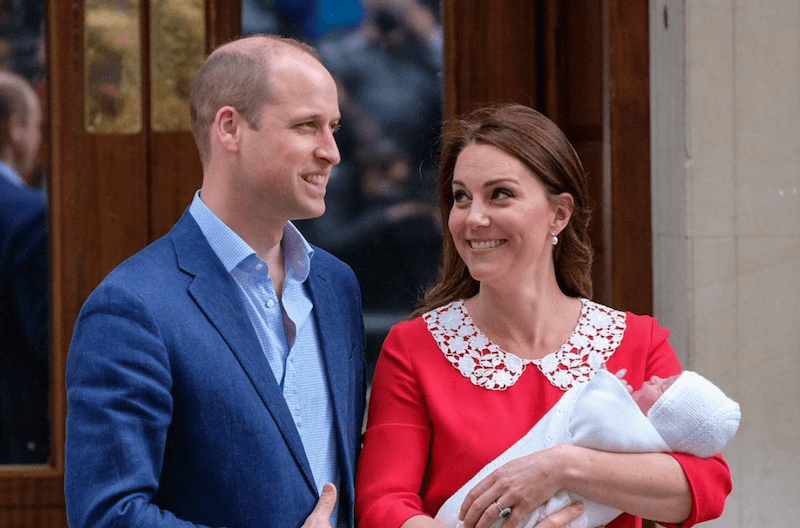 Kate Middleton, Prince William, and Prince Loui