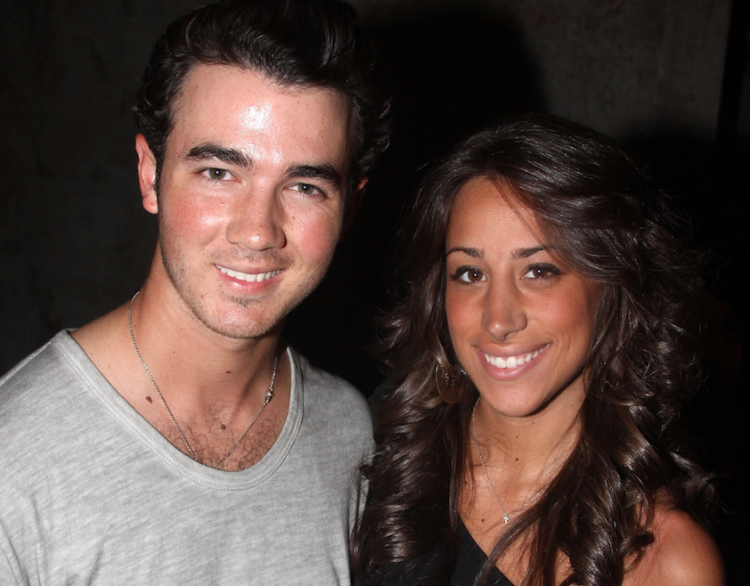 Kevin Jonas with his wife
