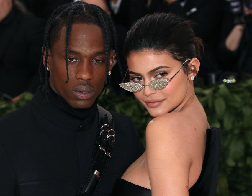Kylie Jenner with Travis Scott