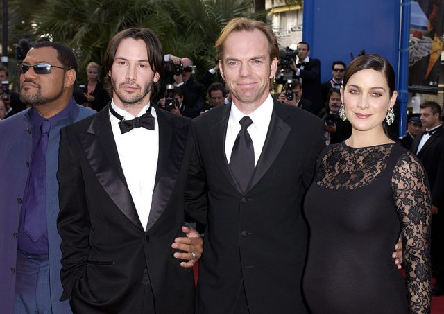 Laurence Fishburne, Keanu Reeves, Hugo Weaving, and Carrie-Anne Moss
