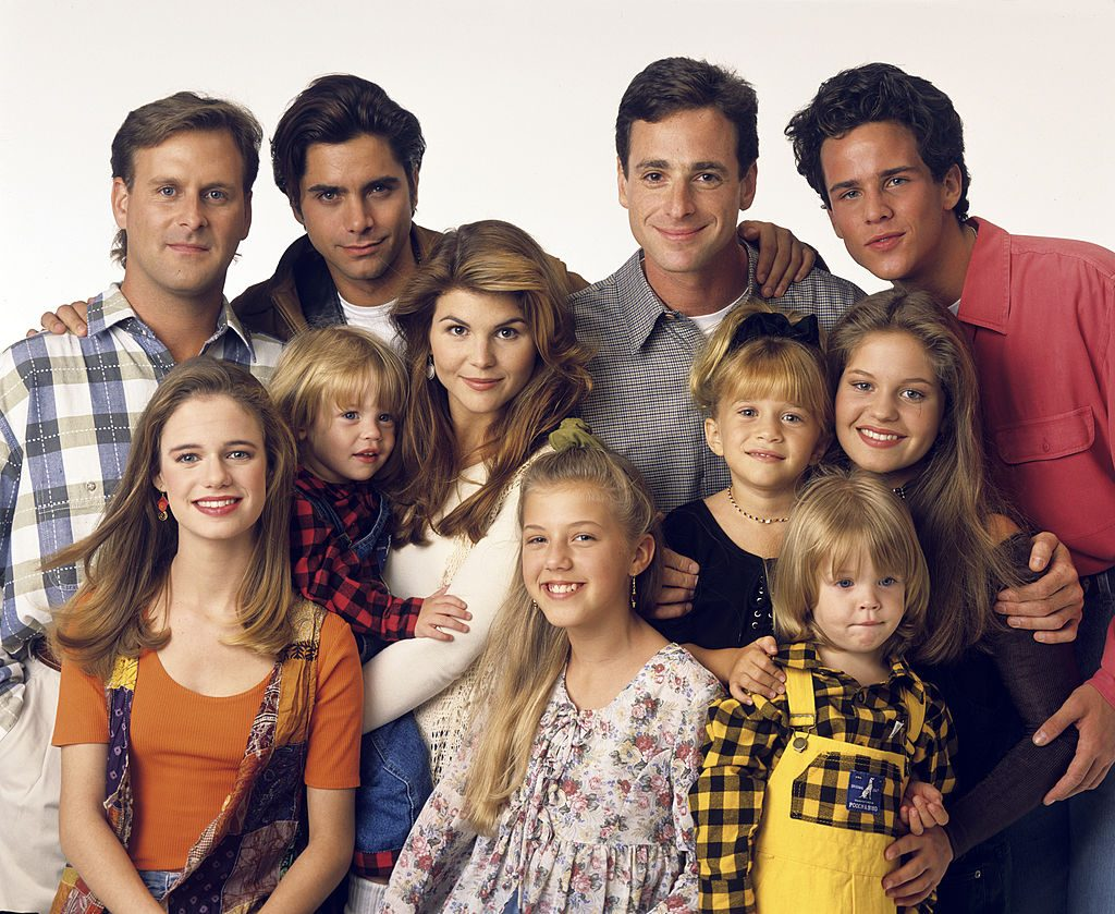 Lori Loughlin with her Full House cast mates | Bob D'Amico/ABC via Getty Images