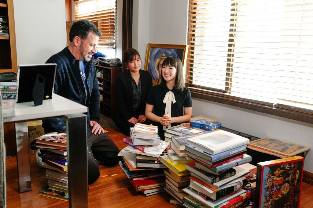 Jimmy Kimmel and Marie Kondo|Randy Holmes via Getty Images