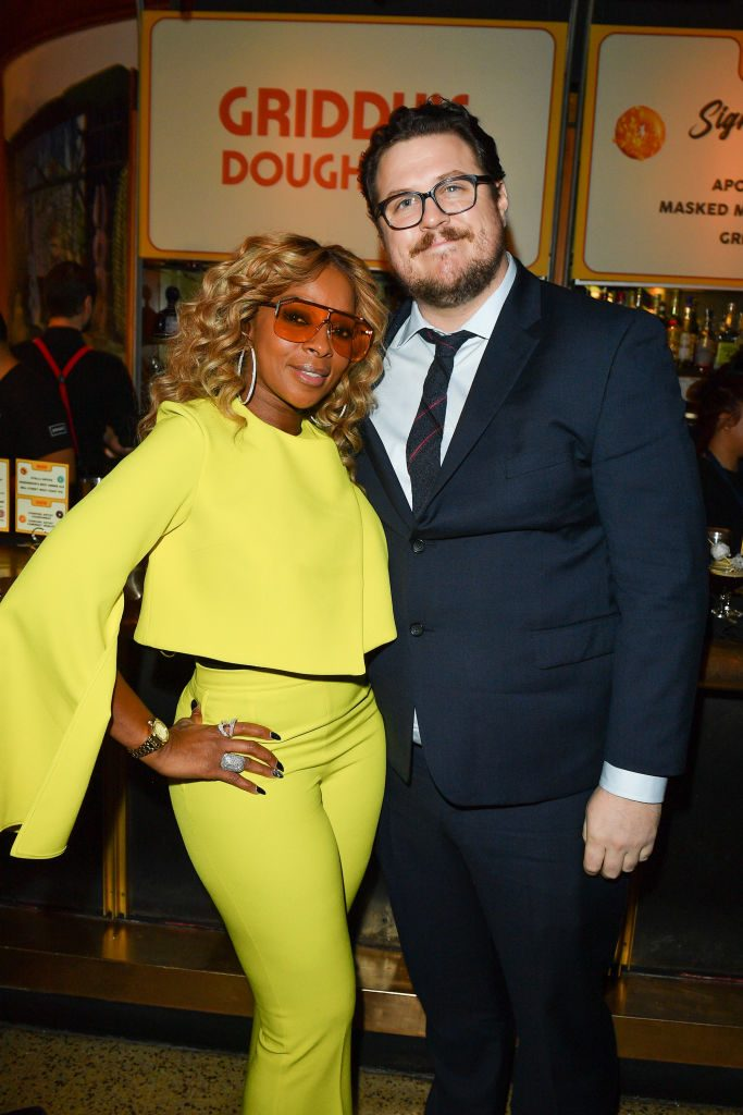 Mary J. Blige and Cameron Britton